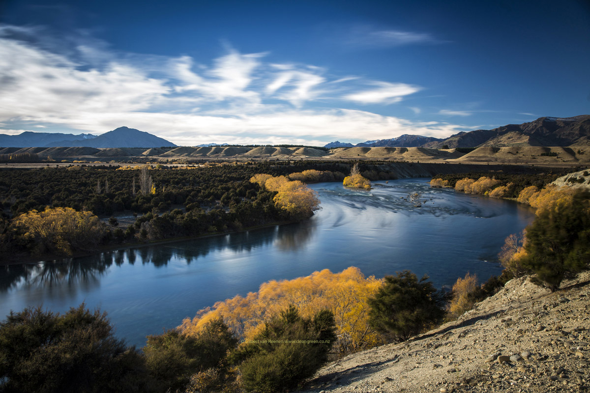Hd images of clutha river in autumn the nz landscape in for Nz landscape